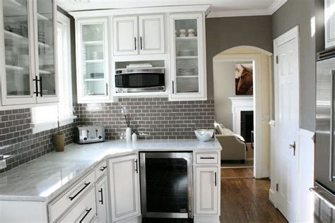 white kitchen grey backsplash kitchen design ideas for a gray tile backsplash saura v 1382