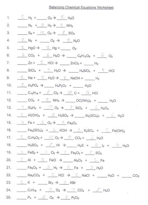 A) balance this chemical equation: Balancing Chemical Equations Worksheet | Balancing ...