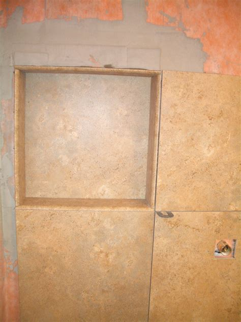 building a shower niche how to build a niche for your shower part 3