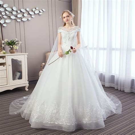 popodion wedding dress wedding gowns trailing bride dress