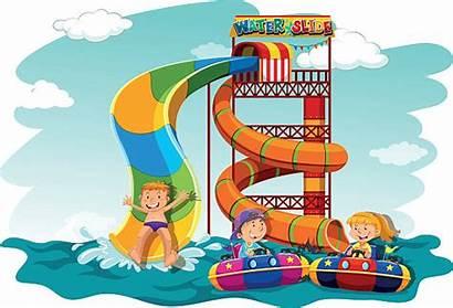 Slide Water Down Boys Clipart Waterslide Illustration
