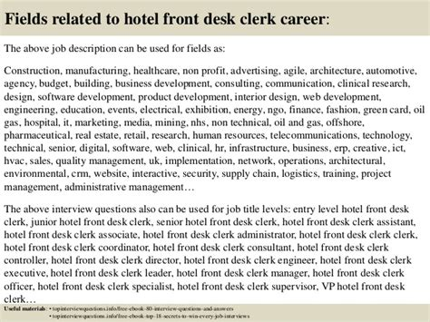 hotel front desk clerk job description top 10 hotel front desk clerk interview questions and answers