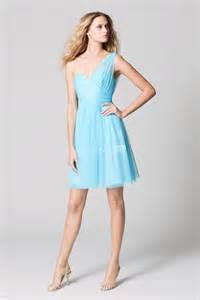 one shoulder bridesmaid dresses aqua blue one shoulder bridesmaid dress ipunya