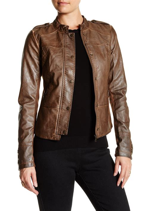 sebby quilted faux leather moto jacket nordstrom rack