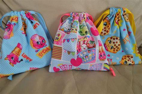 Shopkins Fabric Pouch/ Shopkins Bag/ Shopkins By