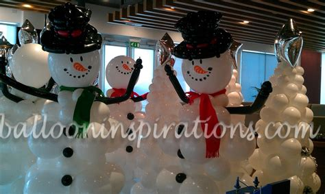 balloon christmas party decorations winter wonderland