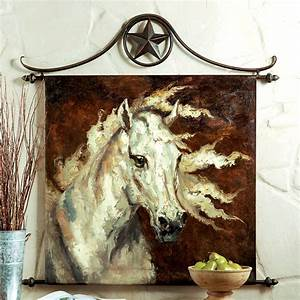 Western horse wall decor painted