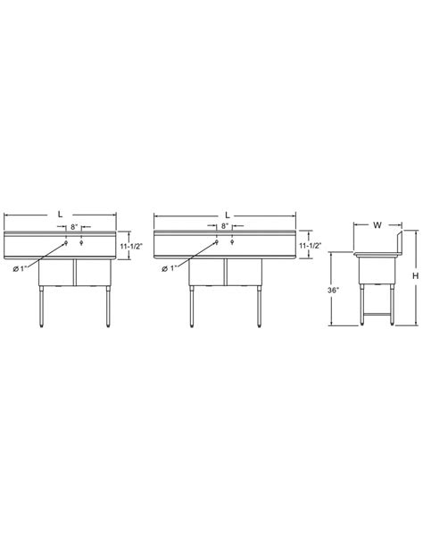 3 compartment sink plumbing diagram ace s 3d24 series commercial three compartment sink w two