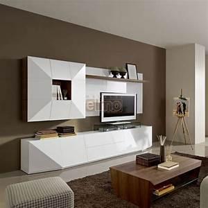 Meuble Tv Living : ensemble meuble t l vision living 4 portes 2 tiroirs laque ~ Teatrodelosmanantiales.com Idées de Décoration