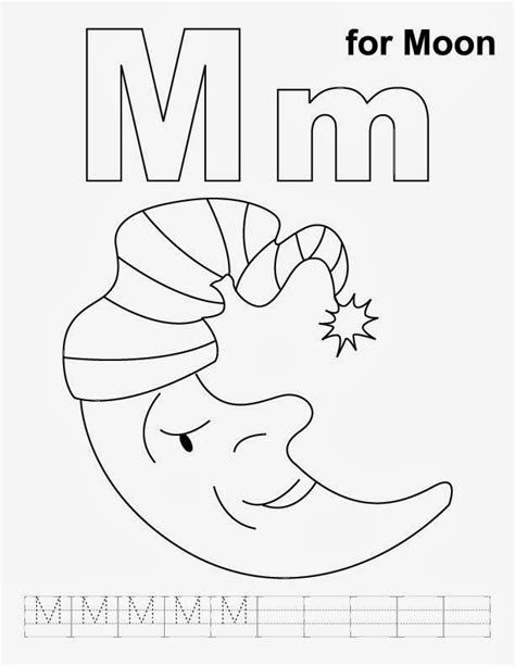 free letter m coloring pages for preschool preschool crafts 169 | free letter m coloring pages for preschool 4