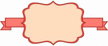 Banner Blank Sign Banners Blanks Clipart Clip