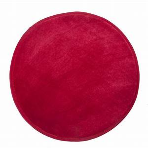 tapis rond imitation fourrure d70cm rouge rubico With tapis rond alinea