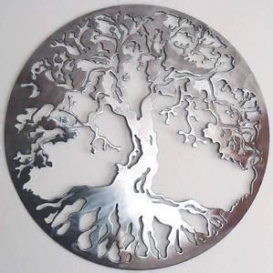 abstract stainless steel wall sculpture tree of life art metal decor laser cut ebay