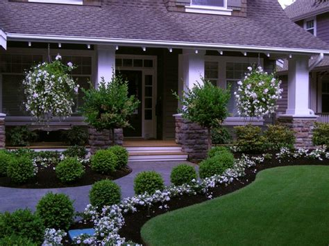 front entry landscaping ideas  pinterest