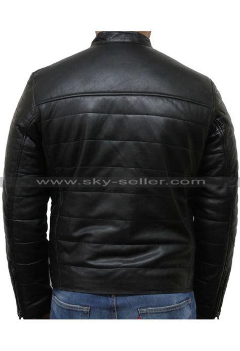 padded leather motorcycle jacket men 39 s black puffer padded motorcycle leather jacket