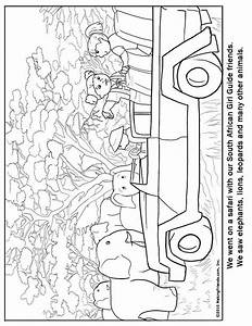 South Africa Guide Coloring Page