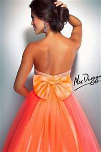 Orange Prom Dresses on Pinterest