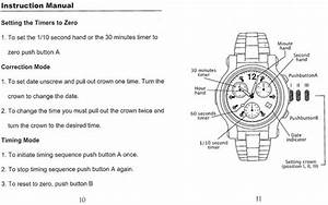 Renato Chronograph Instruction Manual
