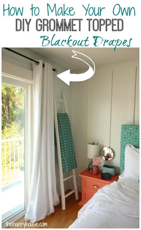 how to make your own diy grommet topped blackout drapes