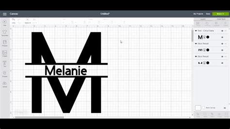 split monogram  cricut design space youtube