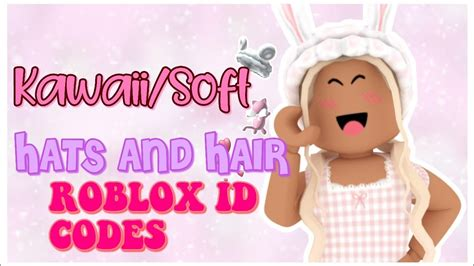 From there, select the plus sign that says add custom accessories. SOFT/KAWAII HATS & HAIR ROBLOX ID CODES #1 - YouTube