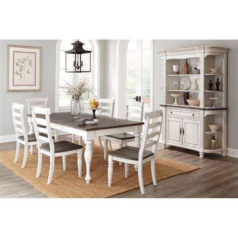 country kitchen tables sets two tone country 5 dining set bourbon 6154