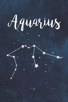 aquarius astrology zodiac star sign   page lined journal notebook  prenta press