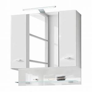armoire de salle bain narrows avec eclairage blanc With porte d entrée pvc avec eclairage miroir salle de bain sans fil