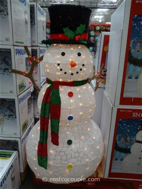 outdoor lighted snowman 60 inch lighted snowman