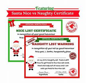 santa nice list certificate santa naughty list by cuteartclip With certified letter from santa