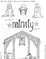 Nativity Children Coloring Jesus Pages Manger Craft Playset Ministry Sheet Printable sketch template