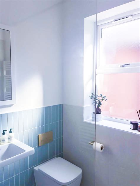 contemporary shower room  concealed storage