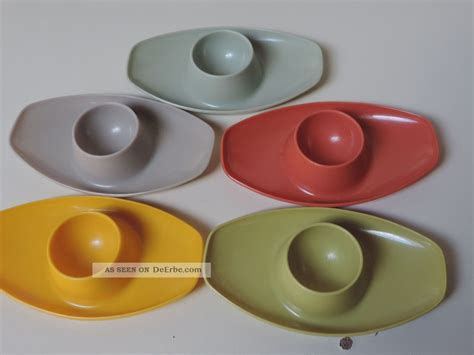 50er Jahre Geschirr by Valon Geschirr 5 Eierbecher Plastik Plastikeierbecher