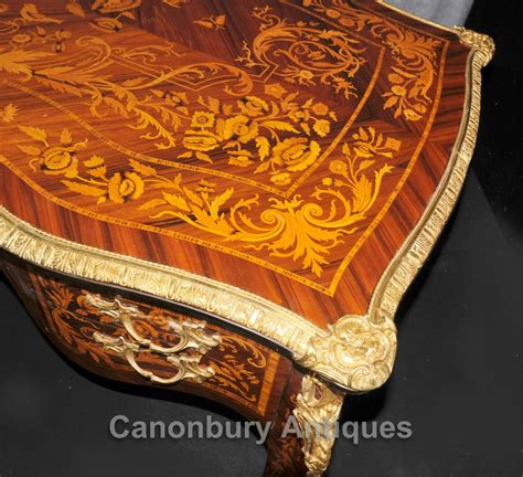 bureau marqueterie louis xvi bureau plat desk writing table marquetry