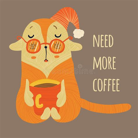 Need coffee cartoon 2 of 2. Need more coffee in color stock vector. Illustration of beverage - 66526692