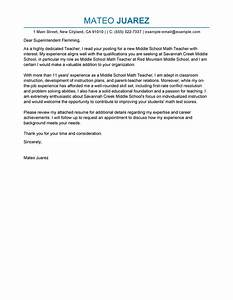 best teacher cover letter examples livecareer With cover letter for education job
