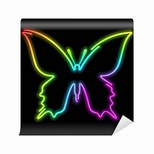 Fotomural Butterfly Butterfly Psychedelic Psychedelic Neon