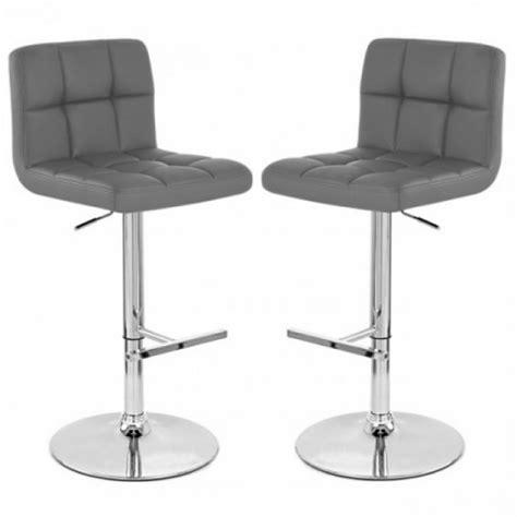 chaise de bar grise tabouret de bar gris x2 mustang achat vente tabouret
