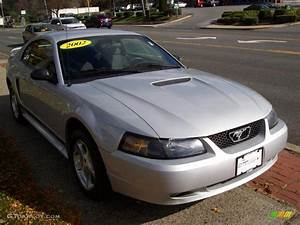 2002 Satin Silver Metallic Ford Mustang V6 Coupe #21131709 Photo #4 | GTCarLot.com - Car Color ...