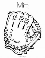 Coloring Mitt Glove Pages Catch Sox Sports Boston Ball Baseball Outline Printable Mit Worksheet Catcher Ll Bat Twistynoodle Built California sketch template