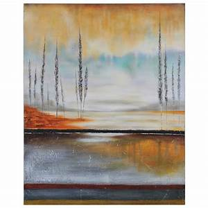 earth in fall oil painting gallery wrapped rectangular With what kind of paint to use on kitchen cabinets for ready to hang canvas wall art