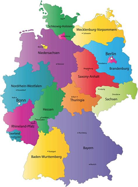map    regions  germany germany