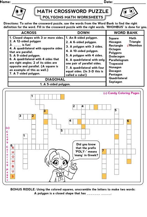 3rd Grade Math Worksheets  Penny Candy Math Worksheets