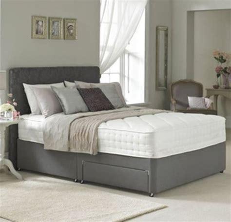 ft  double divan bed base  charcoal faux leather