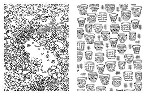 posh adult coloring book japanese designs  fun