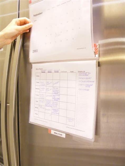 diy easy meal planner   magnetic mead flip folder  target   meal planner