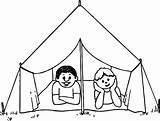 Tent Camping Coloring Circus Drawing Draw Tents Getdrawings Printable Excellent Awesome Getcolorings Davemelillo sketch template