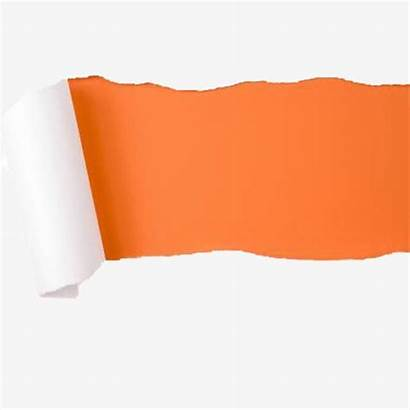 Torn Paper Orange Tearing Background Bright Clipart