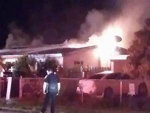 Crews battle late-night house fire near Fort Pierce - wptv.com
