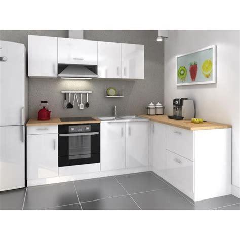 cuisine blanche mur aubergine cosy cuisine complète 280cm laqué blanc achat vente